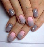 Маникюр темно серый с розовым – Серый маникюр: 45 лучших идей модного дизайна ногтей (фото) Маникюр в серых тонах | Маникюр с серым лаком (гель-лаком) | Маникюр +в серых цветах
