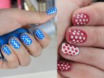 Дизайн в горошек ногти – Оригинальный маникюр — ногти в горошек. Дизайн красных, черных, белых и розовых ногтей в горошек