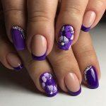 Френч бело фиолетовый – Фиолетовый френч на ногтях (41 фото): дизайн французского сиреневого маникюра