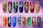 Френч с вензелями – Вензеля на ногтях. Фото пошагово, дизайны для росписи, как научиться рисовать гель-лаком: схемы, трафареты