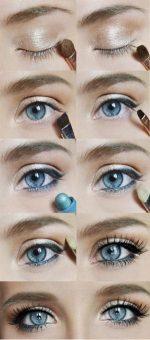 Глаза на выкате фото – пошаговая инструкция макияжа для больших карих и голубых глаз, как правильно рисовать стрелки