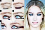 Красивый макияж для глаз голубых фото – красивый повседневный make-up для серо-голубых глаз и русых волос, нежный и яркий, пошаговые инструкции