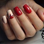 Маникюр красный на короткие ногти – Красный маникюр на короткие ногти — фото идей дизайна ногтей — Страница 2 из 2