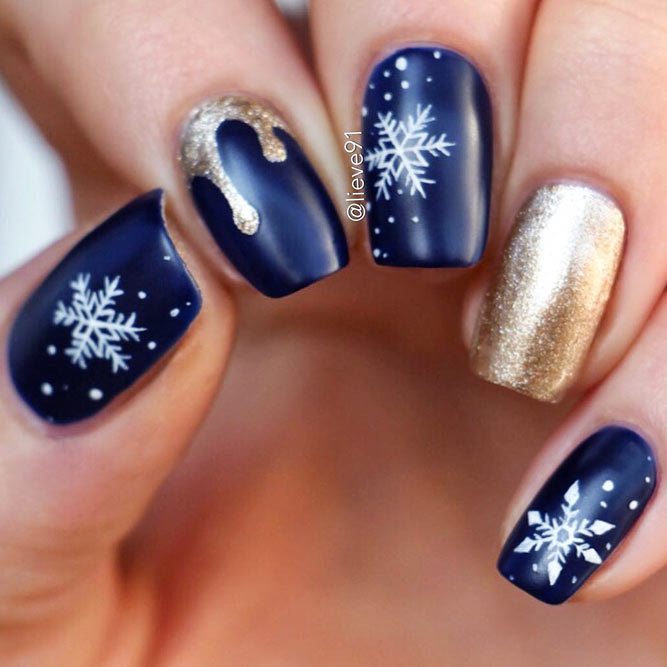 Фото зимнего дизайн ногтей