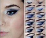 Вечерний макияж пошагово фото для голубых глаз фото – Вечерний макияж для голубых глаз: пошаговая фотоинструкция как сделать
