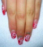 Цветочек на ногтях – Рисунки цветов на ногтях — 90 фото идей красивого оформления ногтей с рисунком