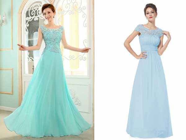 d9157492093 Наиболее актуальная модель на сегодняшний день – это вечернее платье нежно- голубого цвета. Оно чаще всего имеет длину до пола